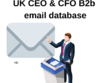 UK CEO & CFO 280 000 B2b email database