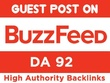 Publish Article At Buzzfeed Dofollow Link