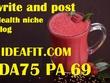 Guest post Ideafit.com (DA 75, PA 69) health & fitness blog