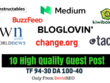 Write and publish 10 guest post with high da