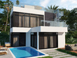 Create realistic exterior 3D rendering of house or building