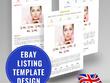 Design a custom listing auction template compliant 2018