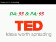 Guest Post on Ted.Com with Dofollow Link! Quality Guaranteed