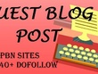 Write & Post 12 general PBN sites DA40+ with 12 article writing