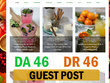 Guest post on my da 46 recipe health blog with dofollow link