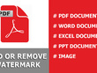 Add or remove watermark from PDF document 40  page very fast