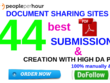 Do pdf submission to 44 document sharing site