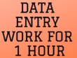 Do all type of data entry work for 1 hour