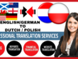 Translate English to Dutch, Polish and  vice versa (1000 Words)