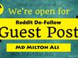 Create Reddit Do-Follow Guest Post, DA 99 PA 96 TF 68 CF 56