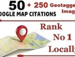 50 Google Map Citations + 250 Geotagged Images super local SEO