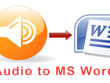 Transcribe 1 hour of audio into word document