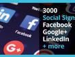 Deliver 3000 Social Signals (Facebook, Google+, LinkedIn + more