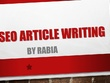 Craft a high quality 1000-word SEO article