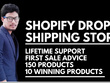 Create Shopify Dropshipping Store Ready For Sale
