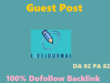Do write & publish a guest post on Livejournal.com[Dofollow]