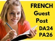 Guest post your article on my french blog