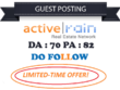 Do real estate guest post on activerain dofollow