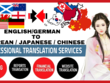 Translate English to Chinese, Japanese, Korean (1000 Words)