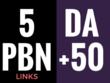 Write & guest post 5 Post on DoFollow DA50+ PBN Blog
