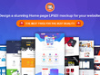 Design a stunning Home page (.PSD) mockup for your website