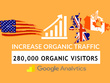 Provide 280.K Website Traffic By Google yahoo bing