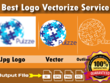 Convert Jpg logo To Vector Within 2 Hours