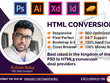 Convert PSD To HTML5 Responsive Using Bootstrap 4, CSS3 & SASS
