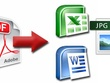 Convert PDF, images or handwriting to Word,Power point or Excel
