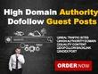 15 Real Guest Post (No PBN) DA 20- 50+ High PR Dofollow Backlink