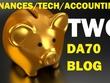 Write & post on Two finance,tech and accounting DA70 niche blog