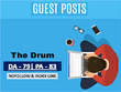 Place a Guest Post on TheDrum. com DA 81, TF 56