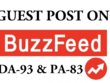 Write & publish article with dofollow backlink on Buzzfeed DA-93