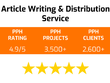 Provide an article writing & distribution service