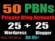 Powerful 50 PBN POSTs Tumblr and WordPress 90 High DA