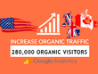 280.K  keyword targeted organic traffic within 30 days