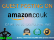 Guest post with DOFOLLOW Backlink on Amazon Amazon.co.uk DA 94