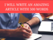 Write An SEO Optimized Original 500 Word Article
