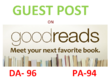 Do A Unique Guest Post On GoodReads.com DA 94 PA 94