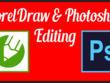 Coreldraw or Photoshop editing 10 images