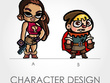 Design an 2D cartoon 2D character design