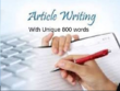 Write Article of 800 unique words for your business