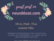 Write and publish a PREMIUM guest post on NewsBlaze.com- DA60 PA