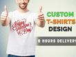 Design Custom Typography, Graphic Designs T-shirts, Hoodie