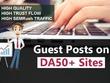 12 Real Guest Post (No PBN) DA 20- 50+ High PR Dofollow Backlink