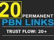 20 Manual High TF CF DA PA 30+ to 30 Dofollow PBN Backlinks