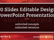 Design 10 slides editable PowerPoint presentation