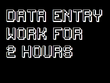 Do all types of data entry work for 1hours