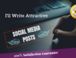 Write 30 x social media posts for your brand or business