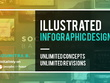 Create a wonderful illustrated infographic design